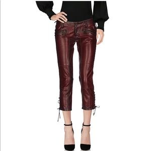 NWT dsquared2 leather pants